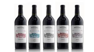▲ミラフィオーレシリーズ。ピエモンテの伝統的なブドウ品種ドルチェット、バルベーラ、ネッビオーロを使った赤ワインのみをリリースしている。最近、ラベルがリニューアルされエレガントな装いになった。