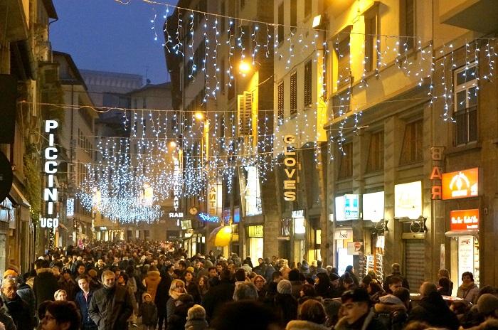 フィレンツェの年末年始の街中AmicaMako