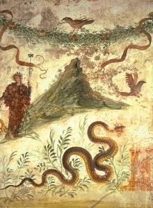 (デ・ファルコ・ヴィーニのラベルのモチーフになったポンペイの古代壁画)