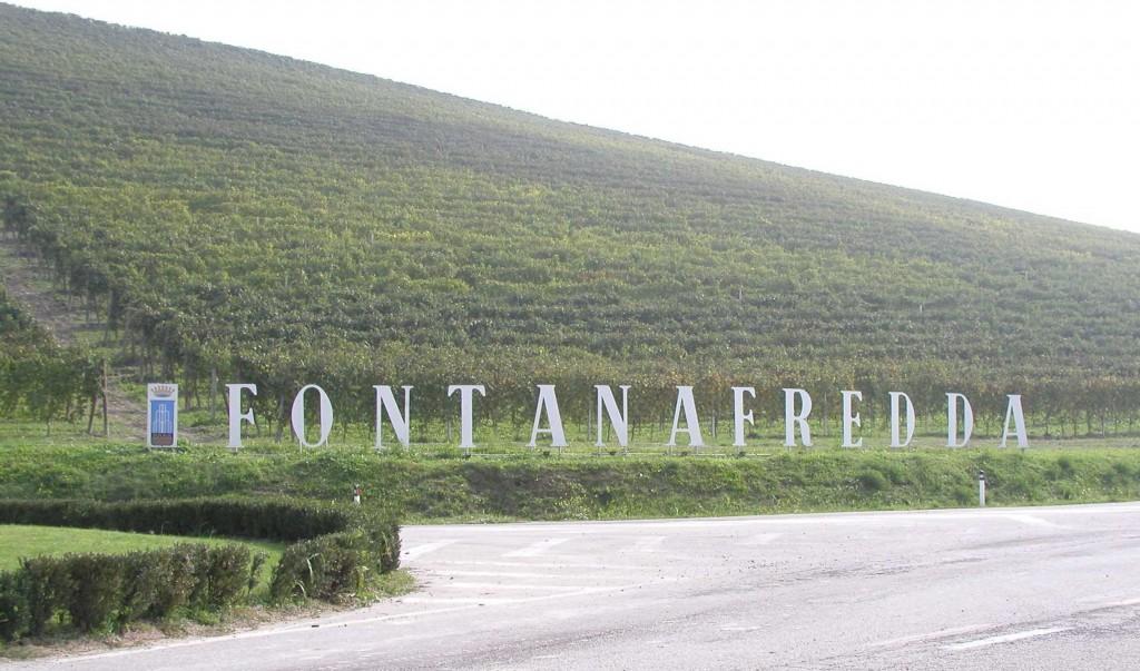 ▲フォンタナフレッダへ続く道沿いの畑