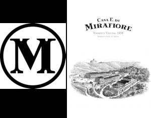 ▲ミラフィオーレのロゴ。Mのマークは全てのボトルにエングレイブされている。