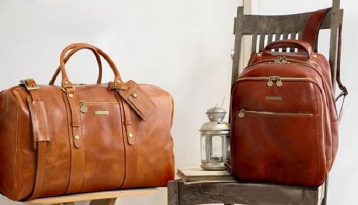 イタリア製トスカーナレザー旅行ボストンバッグ、リュックAmicaMako-700